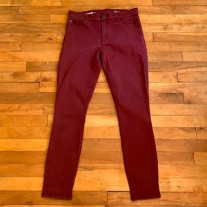 4/$40 - GAP 1969 Burgundy True Skinny Jeans - 30R